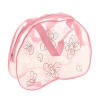 Косметичка-сумка банная цветочки, 2 ручки, цвет розовый