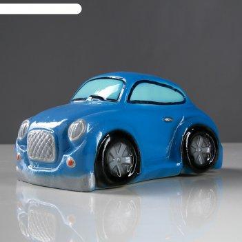 Копилка машина купер синяя
