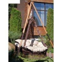 Подвесное кресло качели cartagena (подушка в комплекте), бежево-коричневый