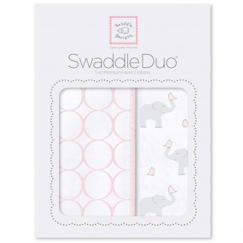 Набор пеленок swaddledesigns swaddle duo pp elephant & chickies mod du