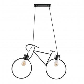 Светильник подвесной шельда 1х40вт е27 черный 68х10х40 см