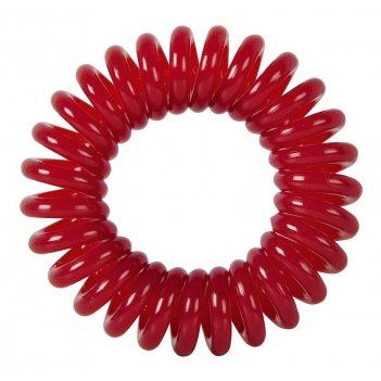 """Резинки для волос dewal beauty """"пружинка"""", цвет темно- красный ("""
