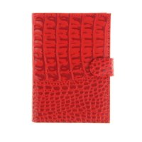 Бумажник водителя бвк-180 (кайман скат, красный 530)