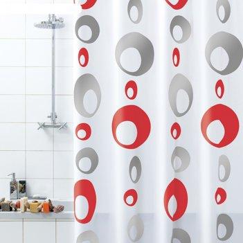 Штора для ванной комнаты bolle, 180 х 200 см, пвх, серая