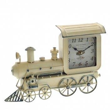 Часы настольные декоративные паровоз, l38 w9 h26 см, (1хаа не прилаг.)
