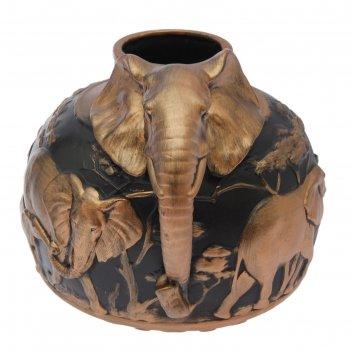 Ваза слон бронза