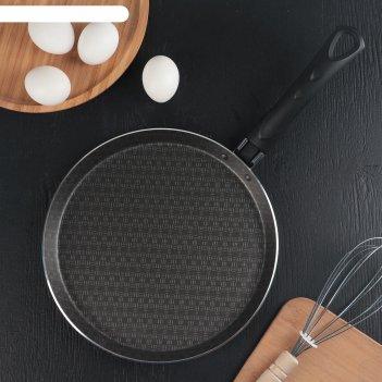 Сковорода блинная 25 см русская кухня лён