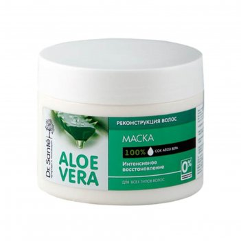 Маска для волос dr.sante aloe vera «реконструкция», для всех типов волос,
