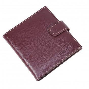 Кредитница, кнопка, н/к, цвет бор./беж. сафьян v-144-582-528