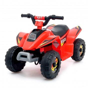 Электромобиль квадроцикл, цвет красный
