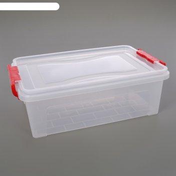 Контейнер для хранения прямоугольный 6,3 л, прозрачный