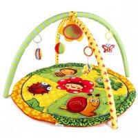 """Развивающий коврик """"летняя полянка"""", 5 развивающих игрушек, с зе"""