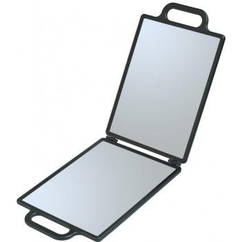 Зеркало заднего вида черное складное, с двумя ручками (23 х 30 см) dewal n