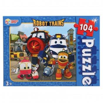 Пазл 104 элемента robot trains