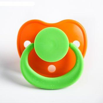Пустышка латексная классическая «улыбка» с кольцом, от 0 мес., цвета микс
