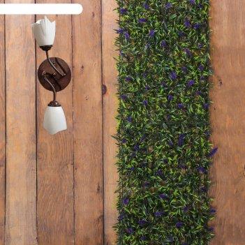 Газон-коврик искуственный, 40 х 60 см, полевые цветы