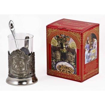 Набор для чая россия (3 пр.) арт. пд-77шкс (георгий)