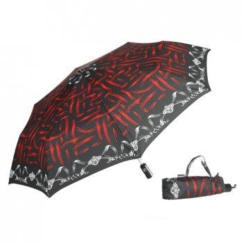 Зонт 23, полный автомат (красно-черная абстракция)