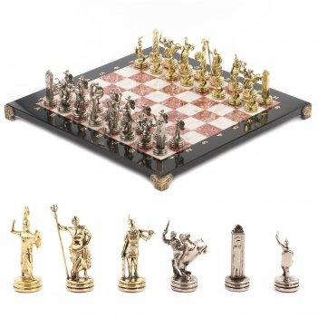 Шахматы греческая мифология доска 360х360 мм мрамор креноид ме