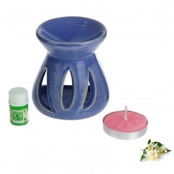 Набор 3 в 1 (свеча, аромалампа, аромамасло жасмин)