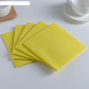 Набор салфеток для уборки 30x30 см, вискоза, 5 шт, цвет микс