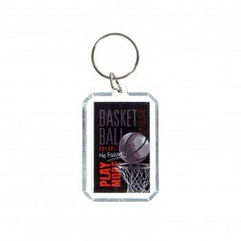 Брелок баскетбол прямоугольный, 4,5 см