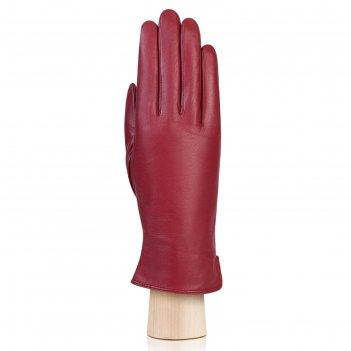 Перчатки женские, размер 6.5, цвет красный