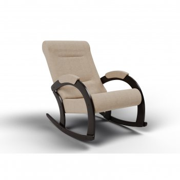 Кресло-качалка «венето», 1112 x 630 x 880 мм, ткань, цвет песок