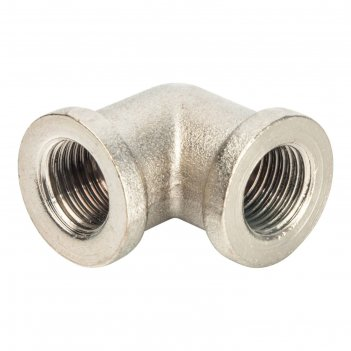 Угольник stout, никелированный, внутренняя/внутренняя резьба 1/4, sft-0014