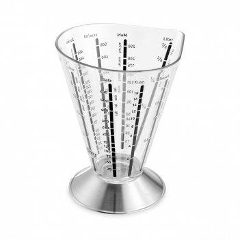 Стакан мерный saturas, объем: 500 мл, материал: пластик, сталь, 14450, gef
