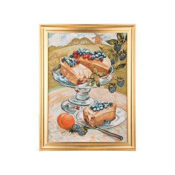 Гобеленовая картина дофине десерт 73х55см.