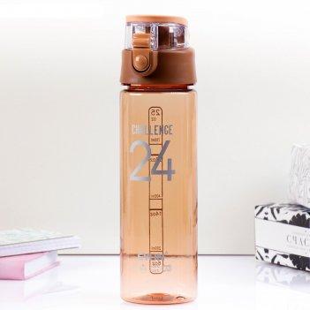 Бутылка спортивная для воды challenge, 700 мл, микс, 25х7х7 см