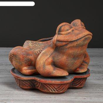 Цветочный горшок лягушка терракотовый, 2 л