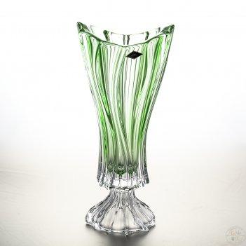Ваза для цветов aurum crystal plantica зелёная 40см