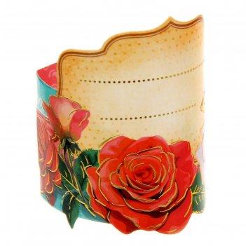 Кольцо для салфеток розы, 15 х 7 см
