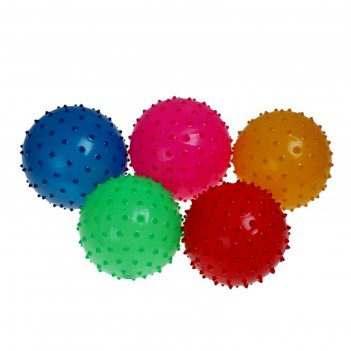 Мячик массажный, цвет матовый, микс, в пакете