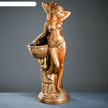 Фигура с кашпо гречанка большая золото 88см