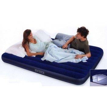 Матрац-кровать надувной downy 99х191х22 см. син. (китай)