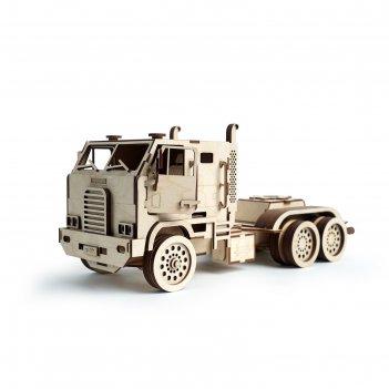 Деревянный конструктор «грузовик автовоз»