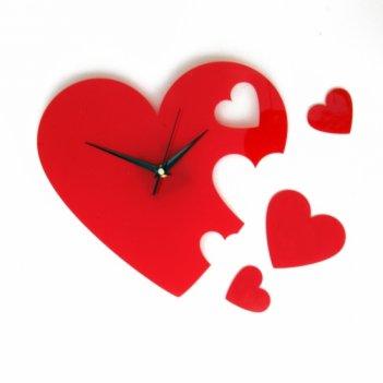 Часы сердце cl154 25х24см (сердечки)