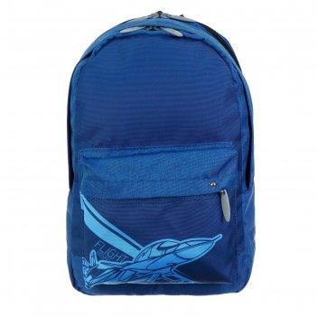 Рюкзак молодёжный с эргономичной спинкой, calligrata, 38 х 28 х 19, «самол