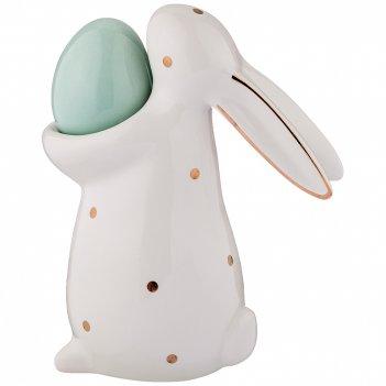 Фигурка коллекция кролик в горошек 12*6,5*14,5 см без упаковки (мал-4 шт./
