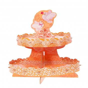 Подставка для пирожных двухъярусная совет да любовь