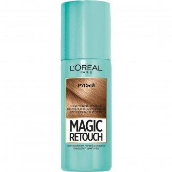 Тонирующий спрей для волос l`oreal magic retouch, цвет русый, 75 мл