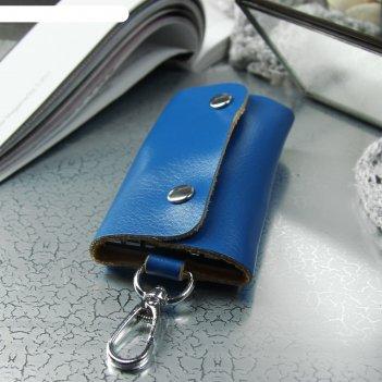 Ключница, 7 карабинов, цвет синий