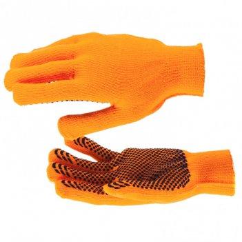 Перчатки полиакрилонитрильные плюшевого переплет, пвх точка, 10 кл, 58гр с