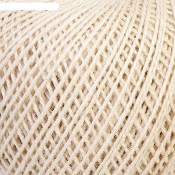 Нитки вязальные флокс 150м/25гр 100% хлопок немерсеризованный цвет 3600