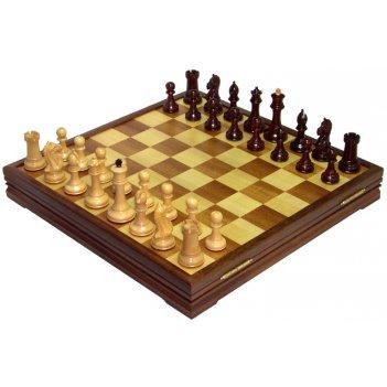 Шахматы классические большие деревянные утяжеленные 47х47см