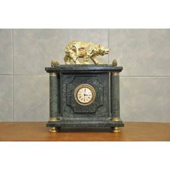 Часы настольные мрамор 350х160х39