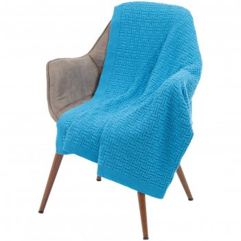 Плед biscuit, размер 90x160 см, цвет ярко-голубой